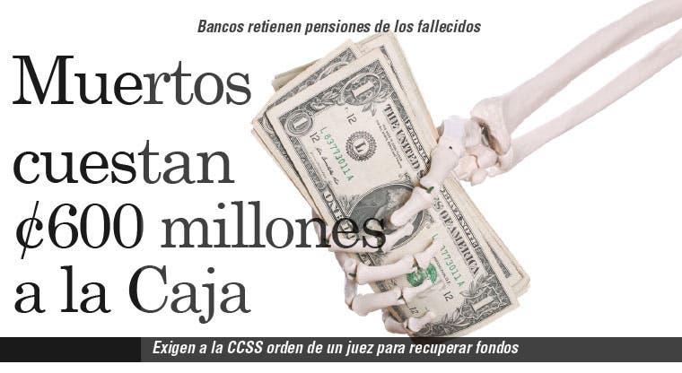 Muertos cuestan ¢600 millones a la Caja