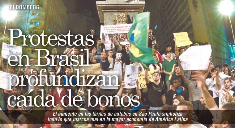 Protestas hunden bonos cariocas