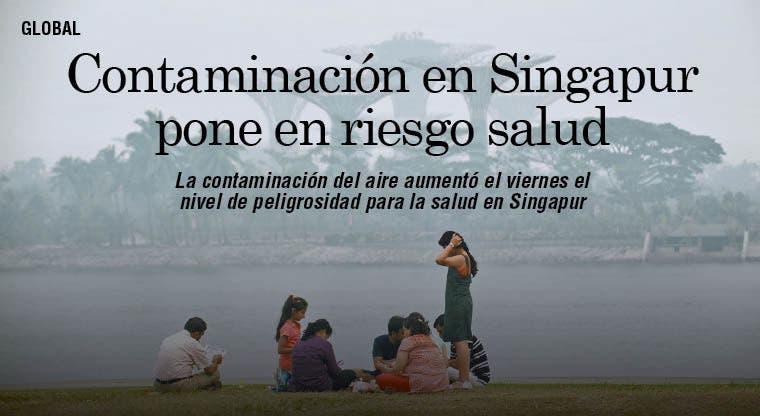 Contaminación en Singapur pone en riesgo salud