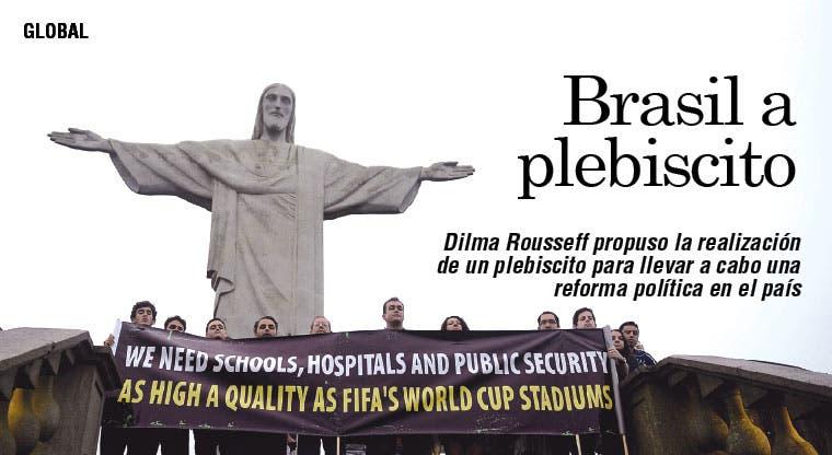 Rousseff propone plebiscito ante protestas