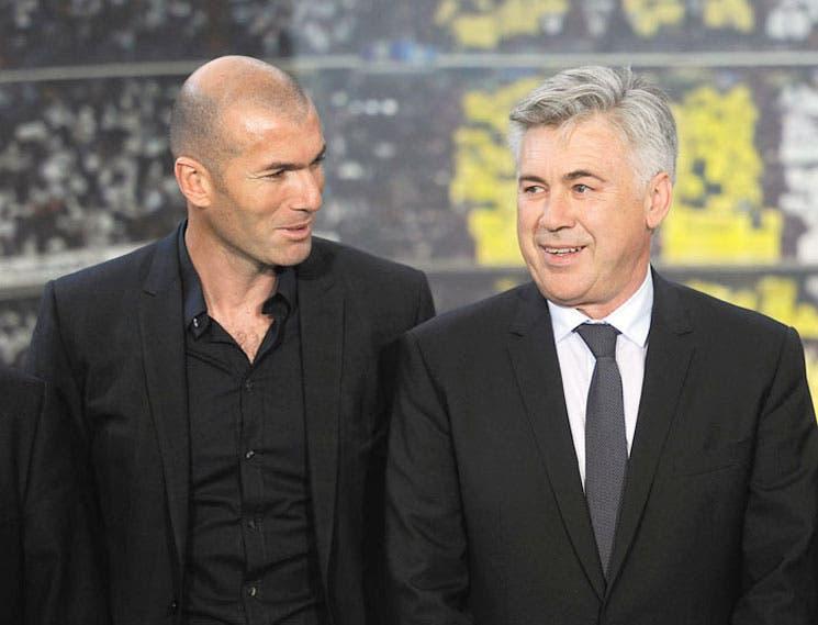 Zidane, mano derecha de Ancelotti