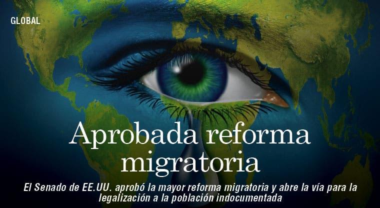 Aprueba EE.UU. reforma migratoria