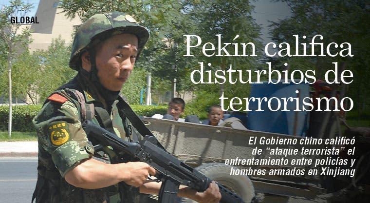 Pekín califica disturbios en Xinjiang de terrorismo