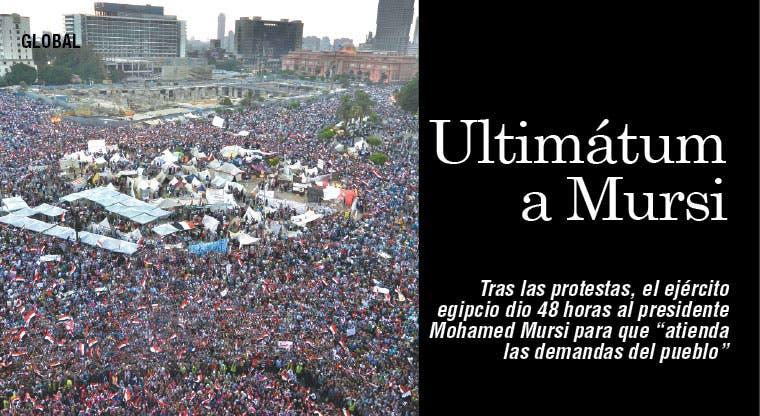 Ejército lanza ultimátum a Mursi