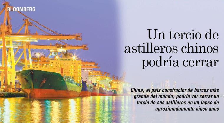 Un tercio de astilleros chinos podría cerrar
