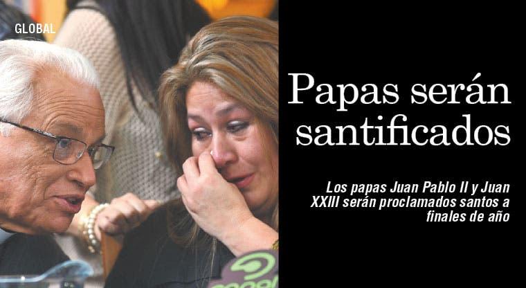 Por primera vez dos papas serán santificados