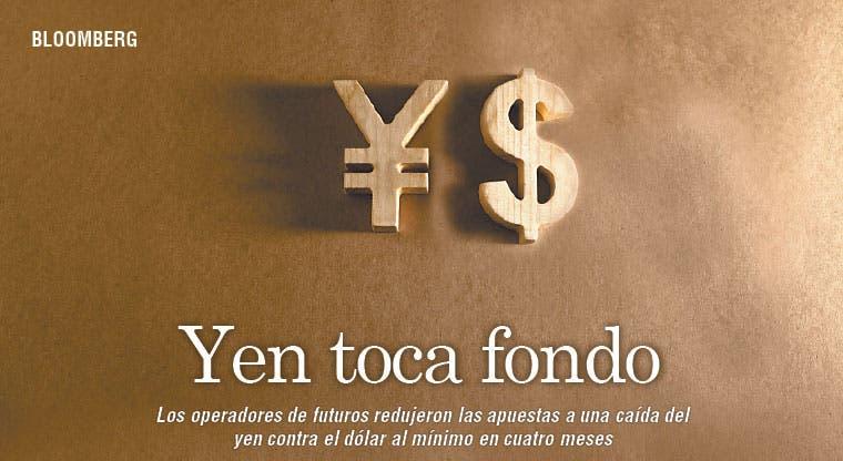 Declinan apuestas bajistas sobre el yen