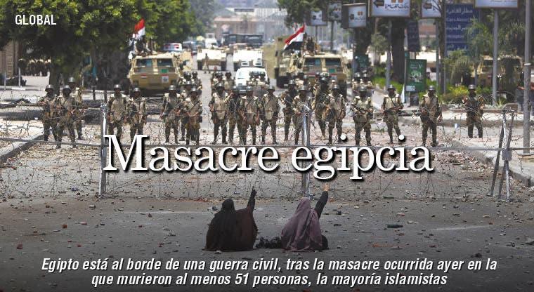 Masacre en Egipto abre temor a una guerra civil