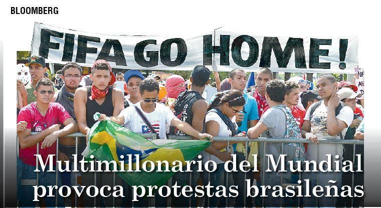 Multimillonario del Mundial provoca protestas brasileñas