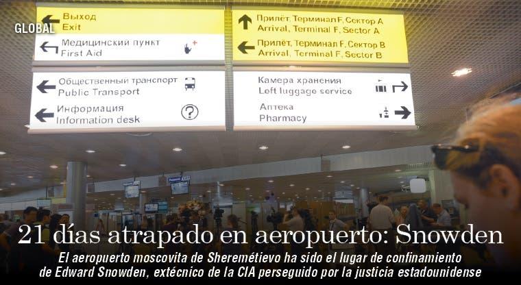 Snowden cumple tres semanas atrapado en aeropuerto