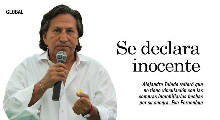 Expresidente Toledo niega vínculo con empresa tica