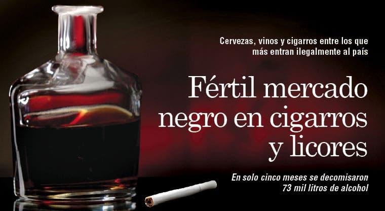 Fértil mercado negro en cigarros y licores