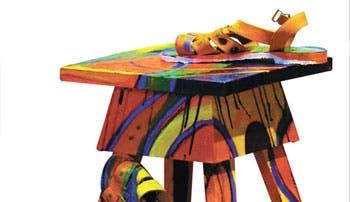 """""""Siéntese"""" en un banquito hecho arte"""