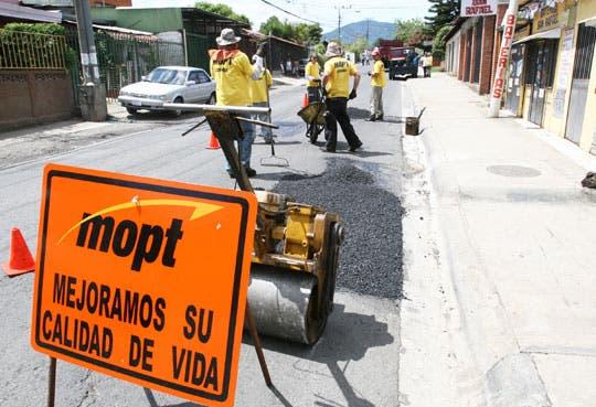 Inversión del Mopt en obra pública aumenta