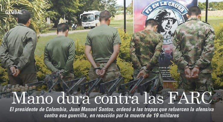 Ejército colombiano refuerza ofensiva contra las FARC