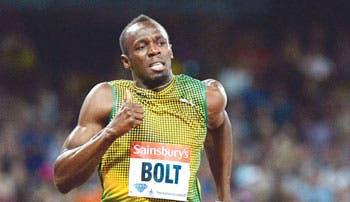Bolt hizo 9,85 en Londres