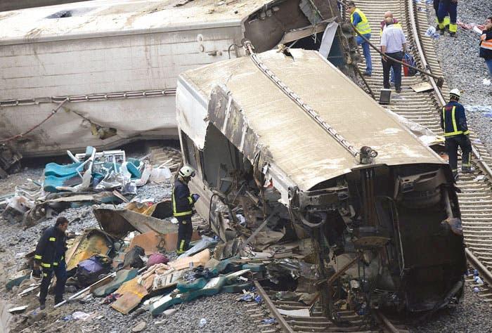 Imprudencia provocó choque de tren en España
