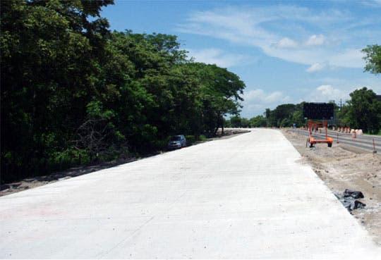 Habilitan carriles de concreto en Cañas – Liberia