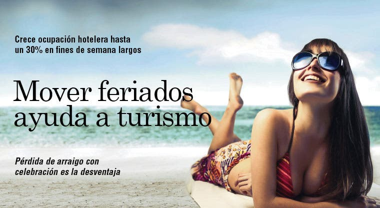 Mover feriados ayuda a turismo