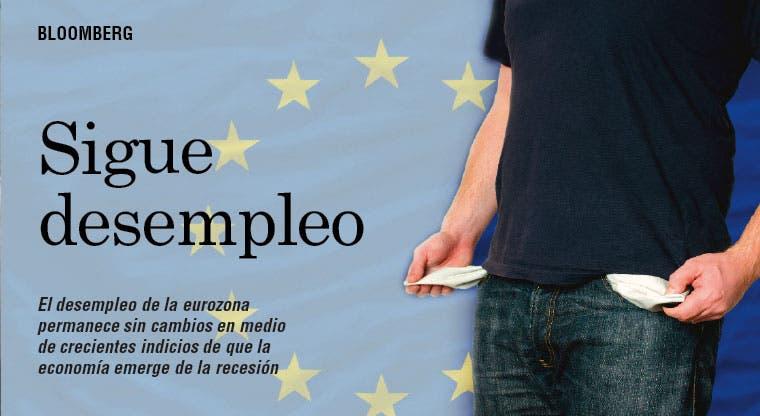 Desempleo permanece sin cambios en zona euro