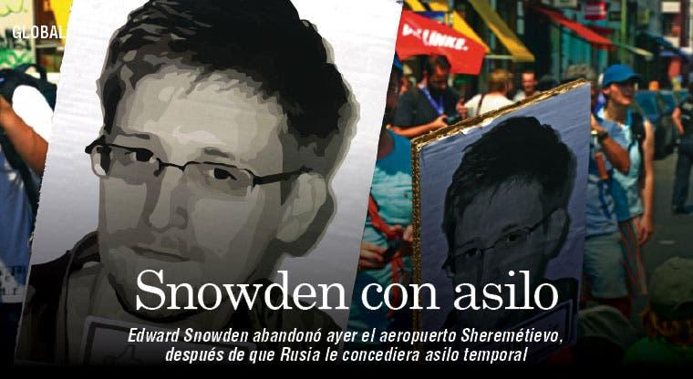 Rusia concede un año de asilo a Snowden