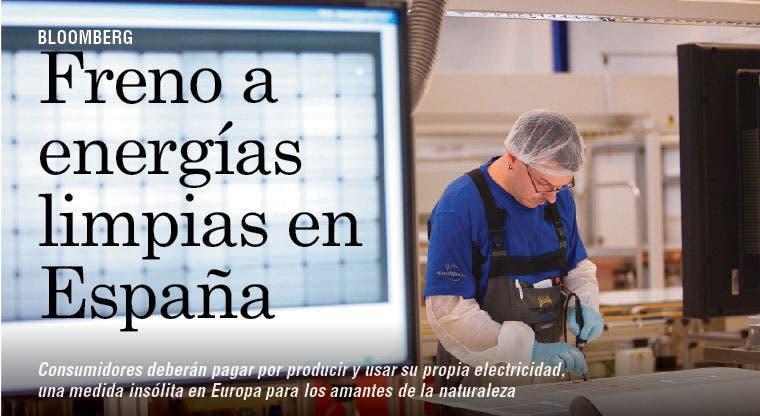 Freno a energías limpias en España