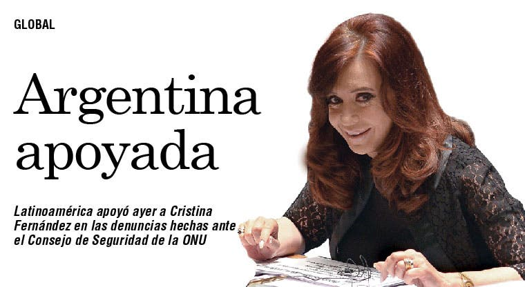 Latinoamérica apoya a Argentina en ONU