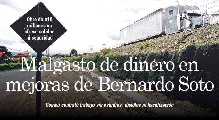 Malgasto de dinero en mejoras de Bernardo Soto