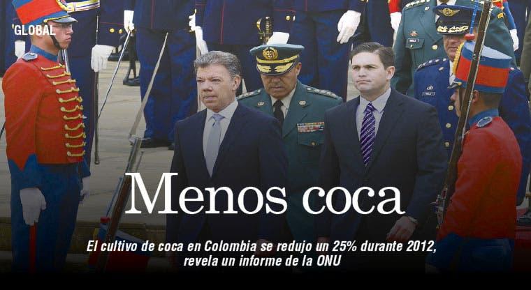 Bajó cultivo de coca en Colombia