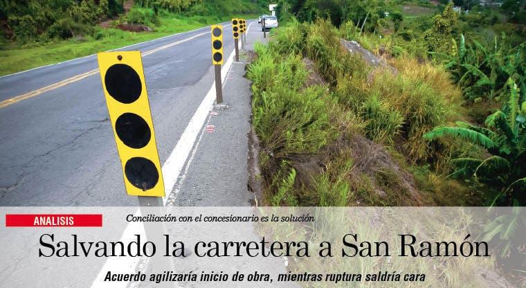 Salvando la carretera a San Ramón