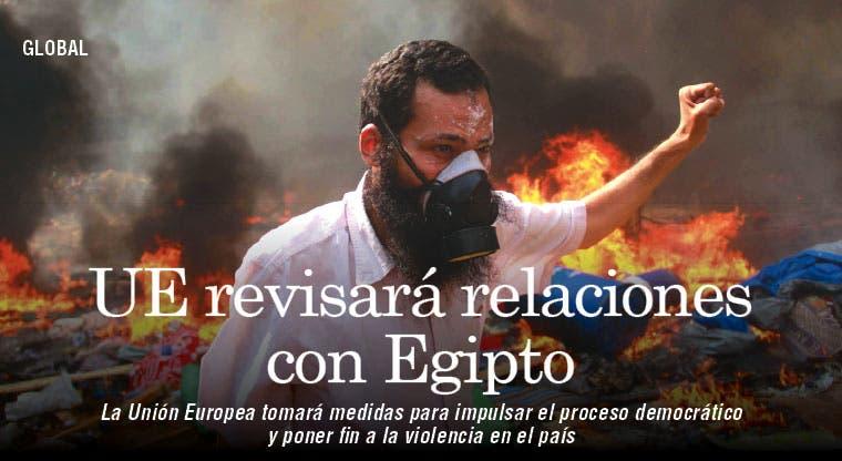 UE revisará relaciones con Egipto