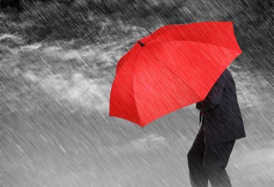 Fuertes lluvias caerán en la tarde