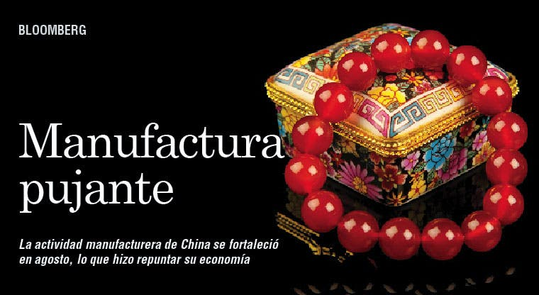 Manufactura muestra repunte de China