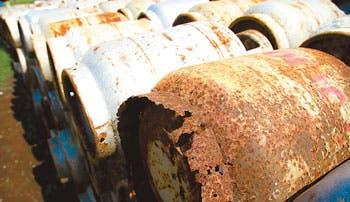 Cilindros de gas dañados deberán salir del mercado