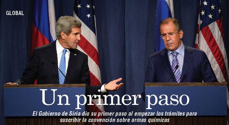 Siria firmará convención sobre armas químicas