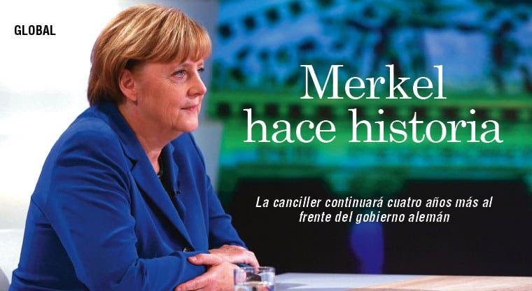 Merkel gana elecciones alemanas y hace historia
