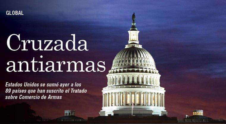 EE.UU. firma tratado sobre comercio de armas