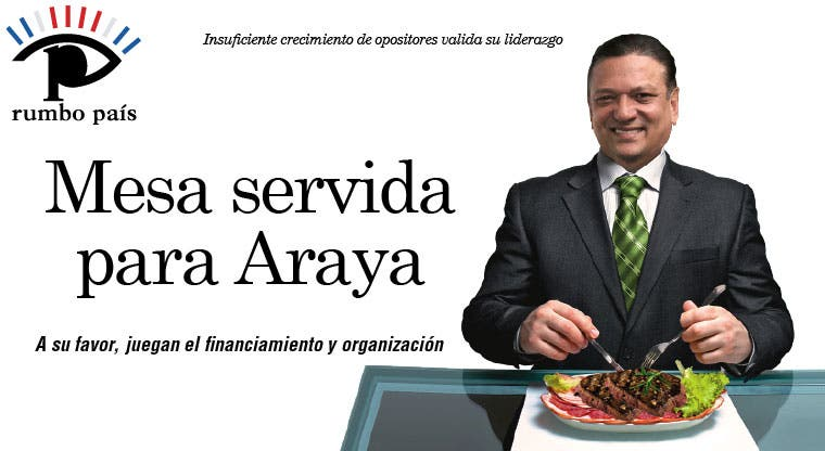 Mesa servida para Araya