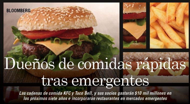 Emergentes atraen comidas rápidas