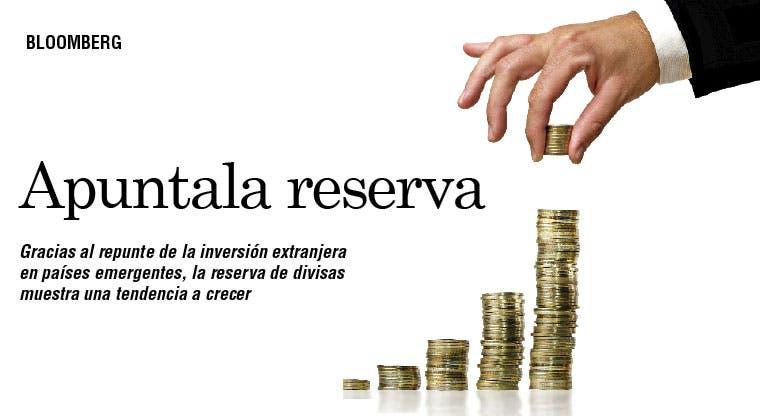 Crece reserva de divisas por emergentes