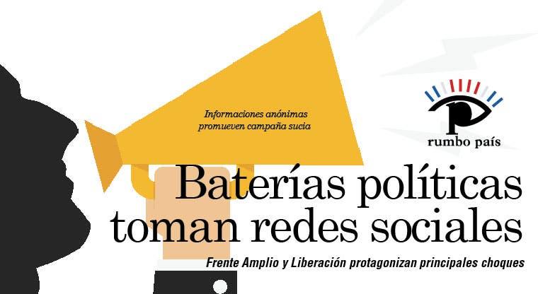 Baterías políticas toman redes sociales