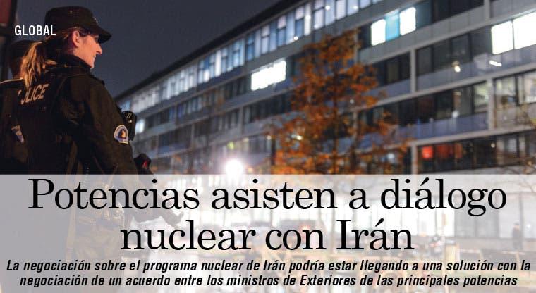 Potencias asisten a diálogo nuclear con Irán