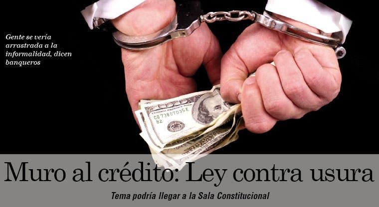 Muro al crédito: Ley contra usura