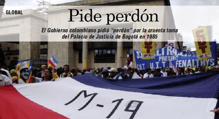 Colombia pide perdón por toma Palacio de Justicia