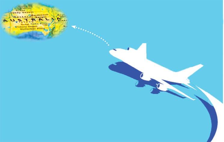 La Sele al avión