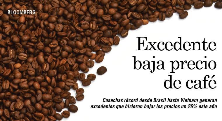 Cosecha récord de café hace bajar precio