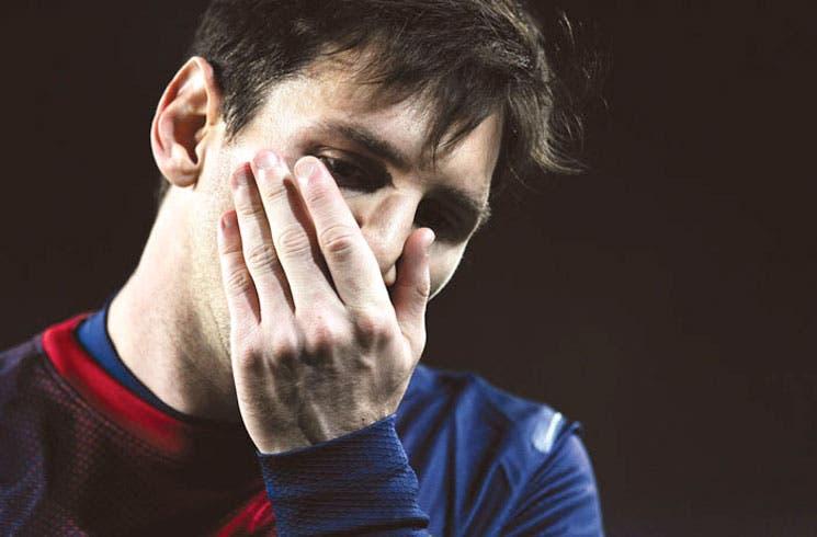 Messi con bronca