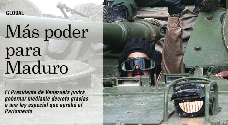 Parlamento aprueba más poderes a Maduro