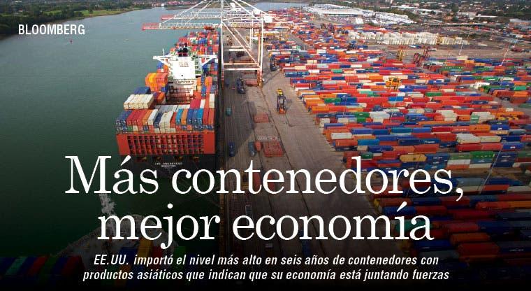 Más contenedores: mejor economía en EE.UU.
