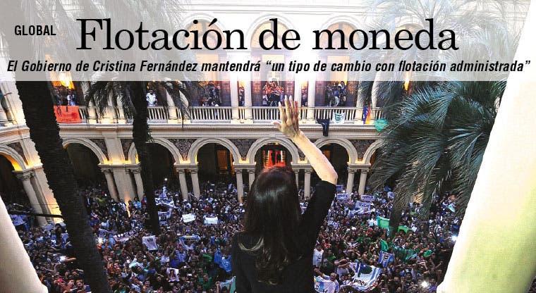 Argentina irá a flotación administrada de moneda